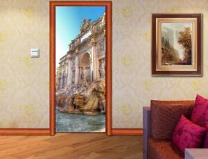 Rome Landscape DOOR WRAP Removable Decal Wall Sticker Mural D163