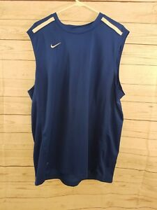 Nike Dri Fit Blue cut off shirt mens size 2Xl Free shipping very good condition