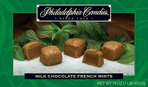 Philadelphia Candies French Mint Meltaway Truffles, Milk Chocolate 1 Pound Gift
