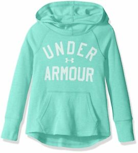 Under Armour Girls Waffle Hoodie ReflectionCrystal Youth X-Small