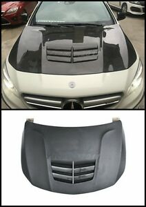 FRP Bonnet Fit For 13-15 Benz W117 C117 CLA Class BKSS Hood w Carbon Vent