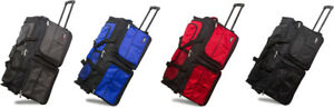 28quot; Polyester Rolling Wheeled Duffel Bag Travel Duffel Bag on Wheel Suitcase