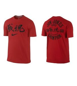 Jon Jones NIKE Dri Fit Shirt WARRIOR SPIRIT Red Limited Edition UFC XL