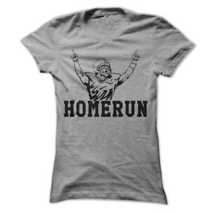 Home Run Funny Football Baseball Women's T-Shirt D11