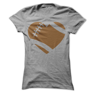 Love Football Heart Women's T-Shirt C6