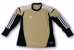 adidas Condivo 12 Infants Goalkeeper Jersey Tan Black White Padded Sleeves $19.99