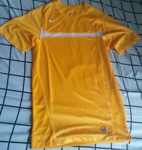 Nike Mens S Small Dri Fit Athletic Shirt Team Polyester Yellow Gold Exercise