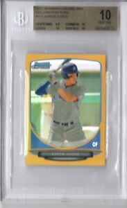 BGS 10 PRISTINE AARON JUDGE 2013 Bowman Chrome Mini GOLD REFRACTOR RC #50 POP1