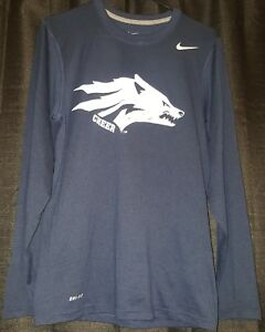 Nike Nevada Wolf Pack  - Gray Dri-Fit Long Sleeve Shirt Size Small Cheer - Used
