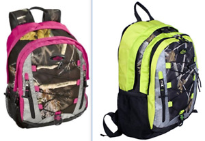Realtree Laptop Camo Backpack (Choose Pink Lime or Berry)  Adult  Youth  17