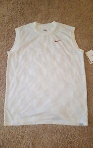 Nike John Mcenroe NWT Rare Checkerboard  Mens Sleeveless Dri fit Tennis Shirt L