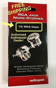Audioquest RCA Plug Noise Stopper Caps For Unused RCA Jacks On Your Gear Qty10 $49.95