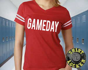GAMEDAY Football Mom Womens Football Jersey Tee Shirt Spirit Wear Game Day