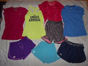 Women's Under Armour Shorts & Shirts Athletic Lot Size Small