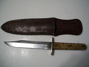 Antique NON-IXL Bowie Knife From Joseph Allen & Sons Sheffield With Sheath