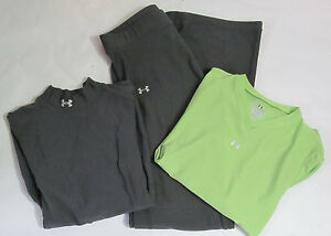 Lot Of Women's Under Armour Long Sleeved Exercise Shirts and Pants Size Small