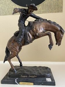 Large Wooly Chaps By Frederic Remington Western Art Old West Bronze Sculpture St