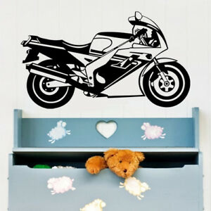 Motorcycle Sport Bike art Vinyl Wall Decal Sticker