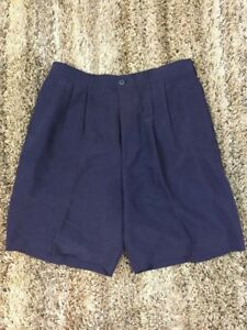 ASHWORTH GOLF MENS DRESS GOLF SHORTS LIGHT Navy blue SZ 34 FABRIC