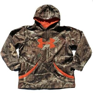 Boys Under Armour Sweatshirt Hoodie Sz YXL Camo Breakup Infinity Pull Over XL $29.99