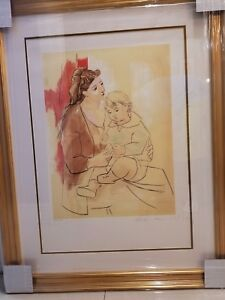 Picasso - Maternite Au Rideau Rogue Estate Signed Sealed and Numbered Lithograph