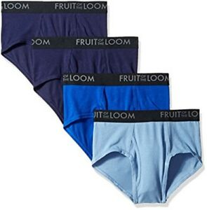 Fruit of the Loom Mens Breathable Brief Mid rise fit Traditional fly Pack of 4 $23.55