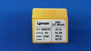 LYMAN Rifle Single Cavity Mould  45 Cal 292 gr Bullet # 457191 FN BB - NEW