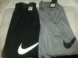 NWT 2 pairs of Men's NIKE DRY Swoosh Dri-Fit Basketball Shorts 1 BLACKWHITE XL