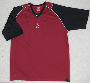 Nike Fit Dry Stanford Pullover Shirt 3XL RED Black Cardinals Golf Football Mens