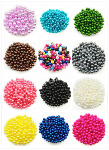 4mm 6mm 8mm 10mm Acrylic Round Pearl Spacer Loose Beads DIY Jewelry Making $1.55