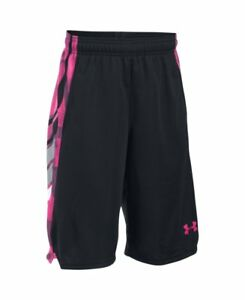 Under Armour Kids Boys UA Select Shorts Big Kids BlackTropic PinkTropic Pink