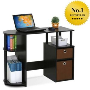 Small Computer Desk Office Student Dorm Spaces Writing Laptop Furniture Drawers