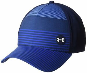 Under Armour Men's Golf Striped Out Cap AcademyWater MediumLarge