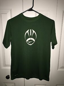 BOYS (TEEN) GREEN NIKE DRY FIT SHIRT ~ YOUTH SIZE L