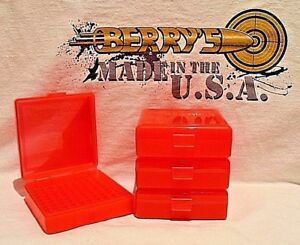 22 lr (4) Ammo Box  Case  Storage (100) Round .22LR .25 ACP (RED COLOR)