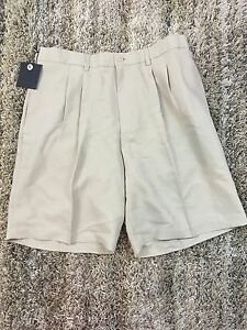NEW Ashworth Golf Shorts Khaki Men 34