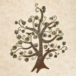 Wall Art Metal Sculpture Tree and Leaves Home Office Decor Hanging $37.99