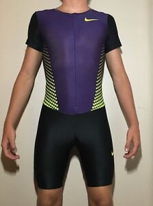 Nike Fit Dry Mens Track and Field Singlet speedsuit skinsuit Running Suit Male