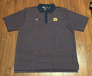 Auburn Tigers Under Armour Golf Polo Shirt Men's 2XL New With Tags