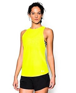 Under Armour Womens UA CoolSwitch Run TankHigh-Vis- Choose SZColor.