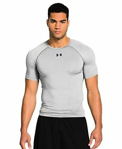 Under Armour 1236224-025-TRG Mens HeatGear Sonic Compression Short Sleeve