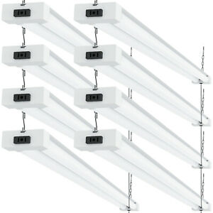 Sunco 8 Pack Frosted LED Utility Shop Light 40W (260W) 5000K Daylight 4100 lm