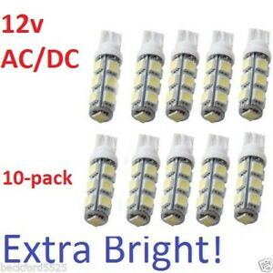 10X LED for Malibu Landscape Light and all T10 T15 bulb base 12v AC DC quot;WHITEquot;