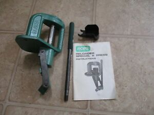RCBS RS2 Reloading Press with Primer Catcher & Original Instructions
