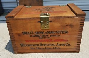 Vintage Winchester Repeating Arms Ammunition Wooden Box Or Case
