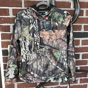 Under Armour UA Youth Boys Hoodie Size L Mossy Oak Camo Hunting
