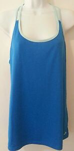 Champion Shirt Women Athletic Blue Running Tops L Polyester