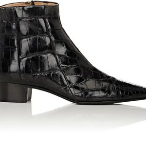 THE ROW WOMENS ALLIGATOR AMBRA ANKLE BOOTS