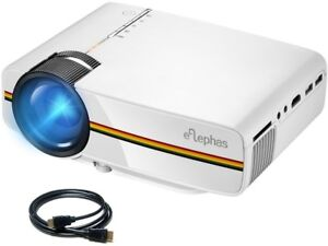 ELEPHAS 2200 Lumens LED Mini Video Projector Multimedia Support PC Laptop Xbox