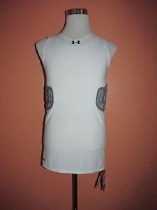 New Under Armour Mens Size XL White Padded MPZ Basketball Compression Shirt